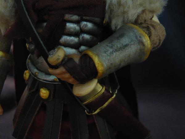 Madelman custom - General Romano - Detalle de las manos