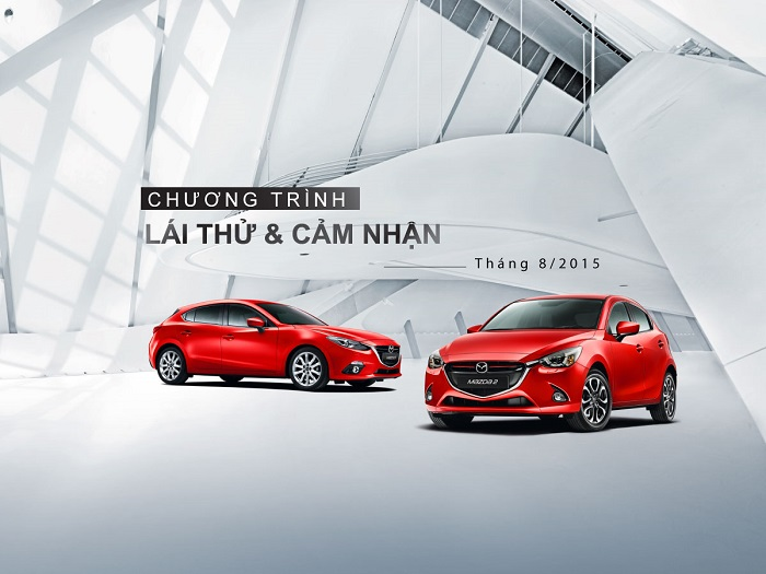 Lái thử xe Mazda| Lái thử và cảm nhận Mazda 2, Mazda 3, Mazda 6, Mazda CX-5 tại Mazda Lê Văn Lương 2015