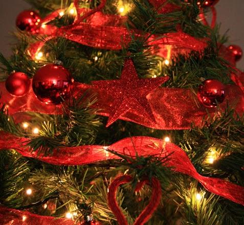 Marzua decoraci n de navidad en rojo y verde - Arboles de navidad dorados ...