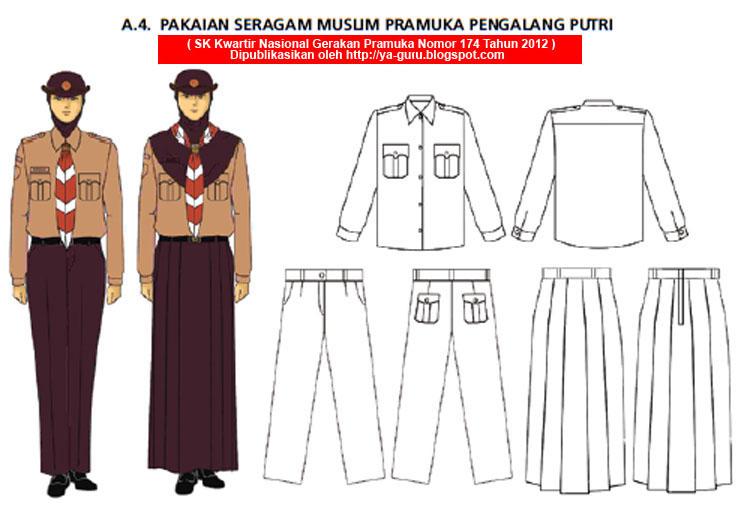 pakaian seragam Penggalang sesuai dengan SK Kwarnas Nomor 174/2012