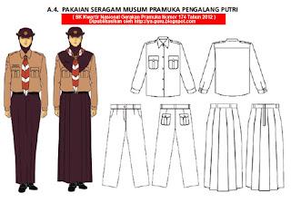Berikut model pakaian seragam Penggalang sesuai dengan SK Kwarnas