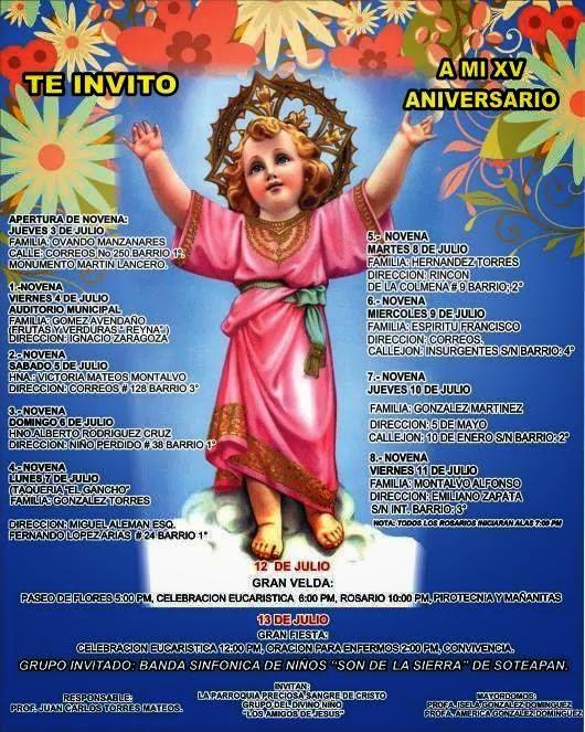 Amanecer De Veracruz Festejaran Los 15 Años Del Divino Niño En