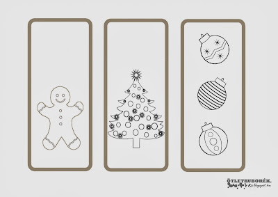 karácsony karácsonyi kifestő színező könyvjelző