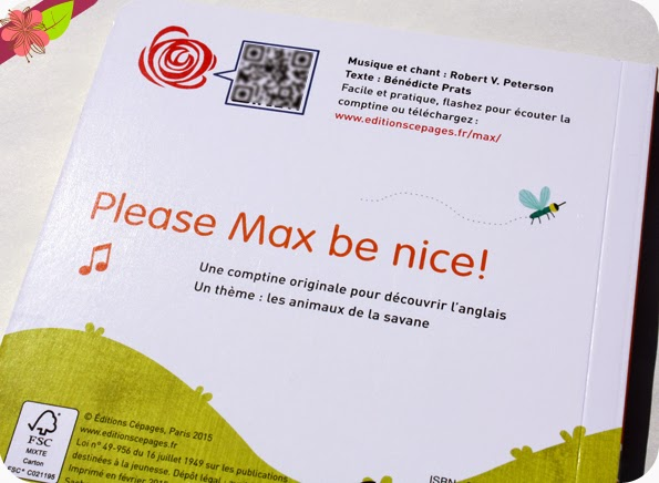 Max the elephant de Bérénice Prats, Marie-Noëlle Horvath et Robert V. Peterson - éditions Cépages