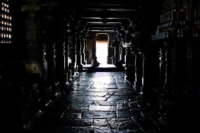 The Light and Shadows playing hide and seek inside the temple