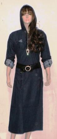 Gamis Jeans Keren Gj1002 Grosir Baju Muslim Murah Tanah