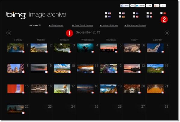 archives des images de page d'accueil du moteur de recherche bing