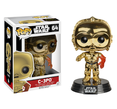 "Barnes & Noble Exclusive Star Wars: The Force Awakens ""Metallic"" C-3PO Pop! Figure"