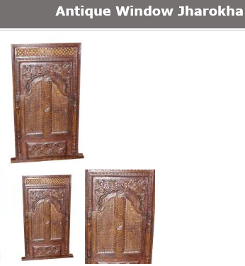 Antique wooden window jharokha
