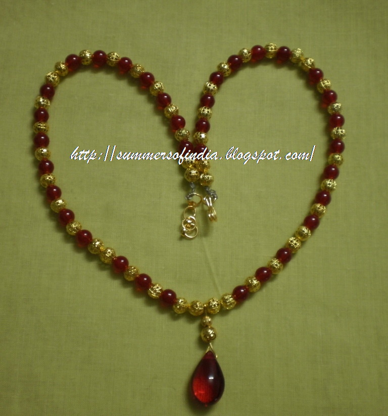 SummersofIndia: Red Beads Necklace