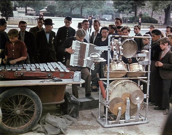 Барабанная установка времен Второй мировой войны
