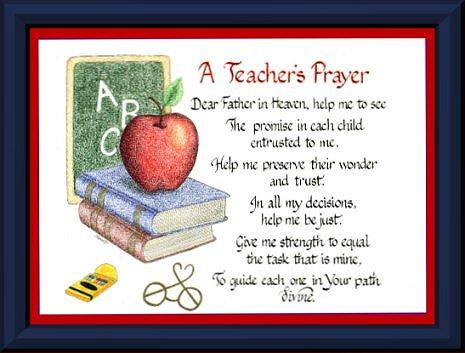 Students teacher prayer