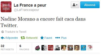 Nadine Morano a encore fait caca dans Twitter