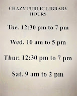CHAZY PUBLIC LIBRARY HOURS OF OPERATION