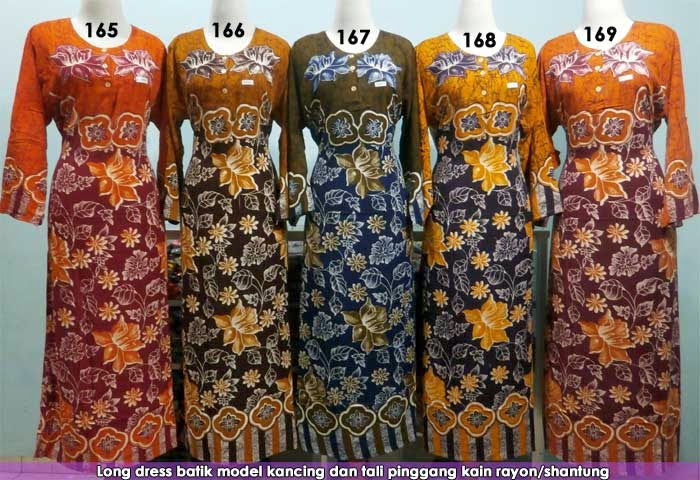 grosir-long-dress-batik-pekalongan-murah
