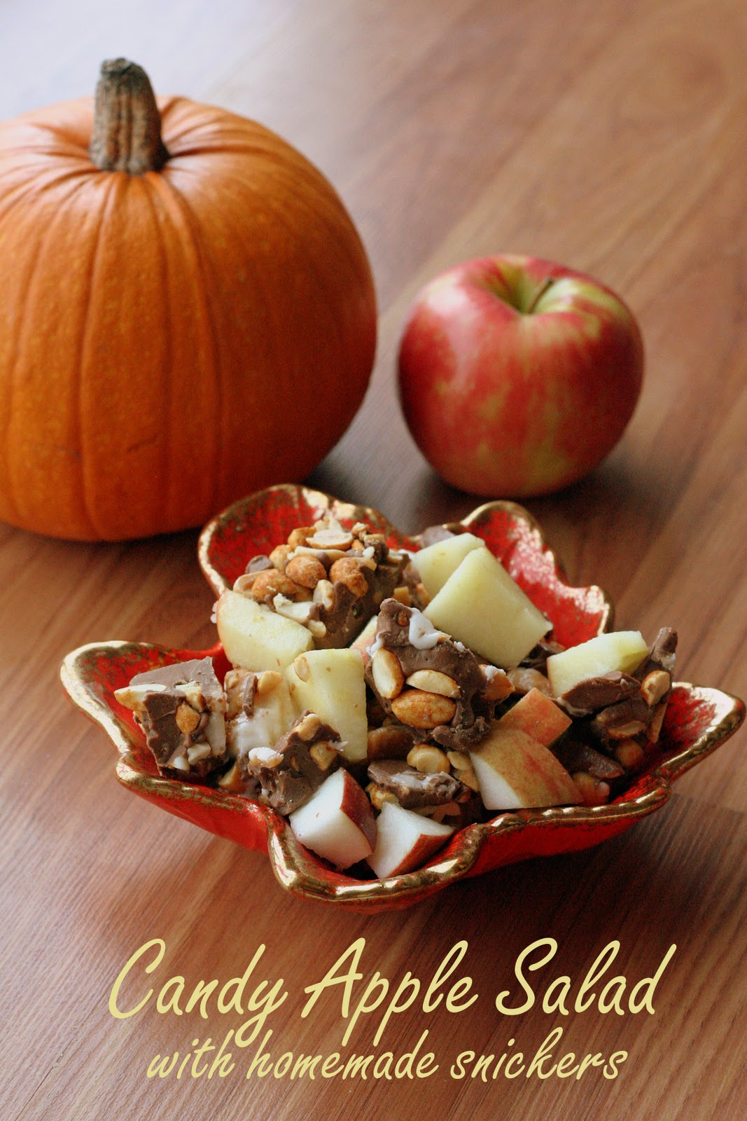 Homemade Snickers Bar Apple Salad