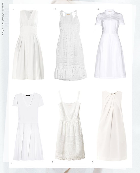 Most beautiful white dresses for Spring/Summer 2014 | LWD | Michael Kors, MaxMara, L'Agence, Toru Burch, Calvin Klein, Collette Dinnigan