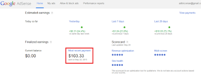 google pasyment proof bukti google adsense