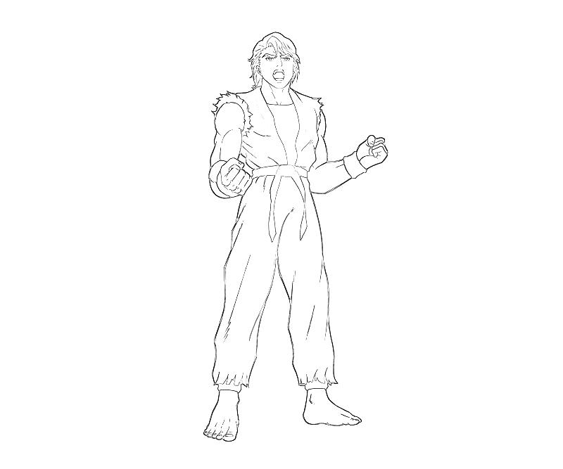printable-king-of-fighters-ryo-sakazaki-roar-coloring-pages
