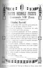 Un raro documento: il manifesto -firmato Bottai- affisso a Tivoli nelle giornate della Marcia