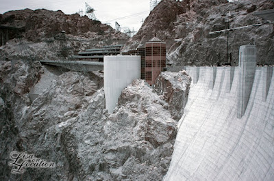 Hoover Dam, false-color infrared, New Braunfels travel photographer