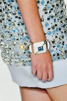 Голяма гривна на плочки с камъни Jenny Packham пролет-лято 2013