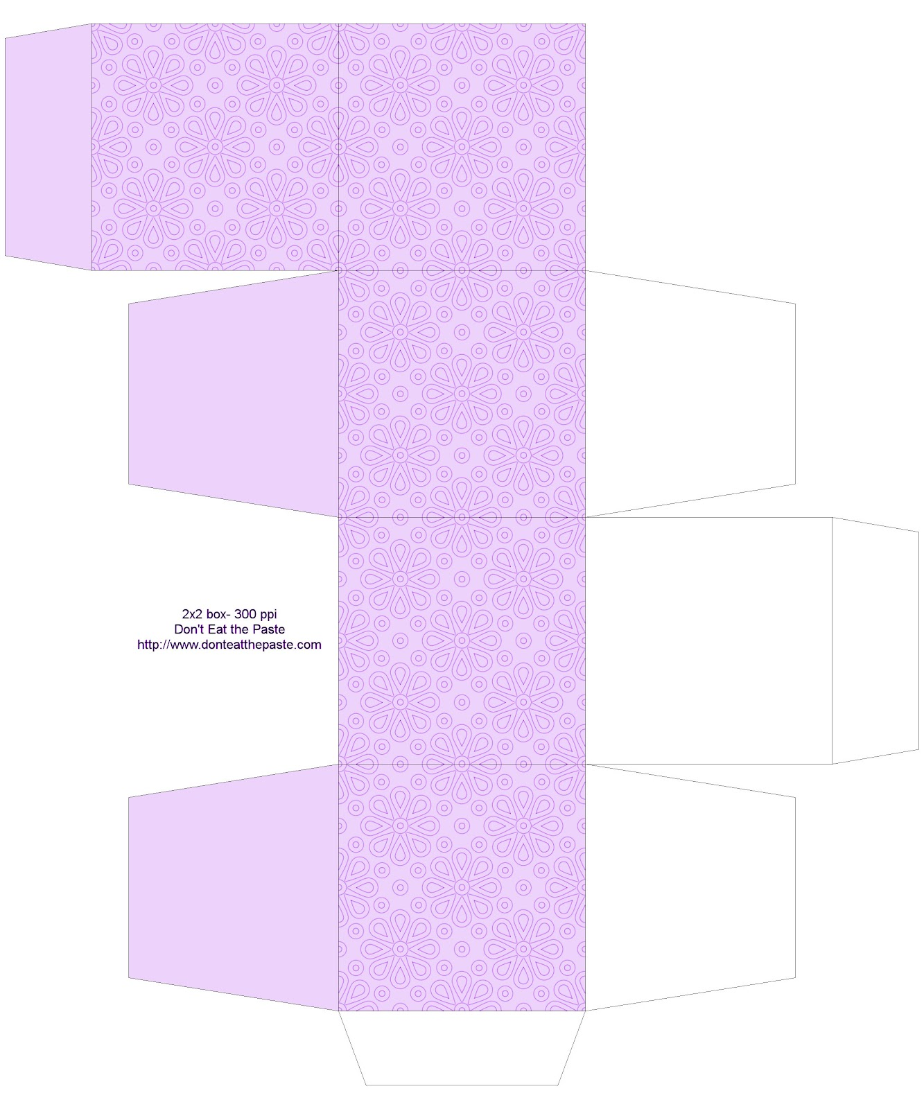 Crescent Moon Templates Printable Decorated printable boxes