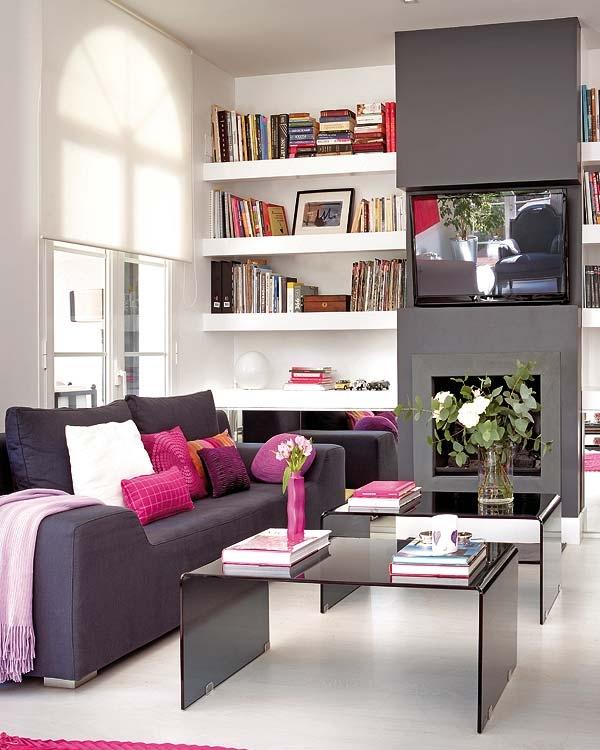 Sala De Tv Sofá Cinza ~  sala a paredinha em que fica a TV e o legal é ver o sofá cinza