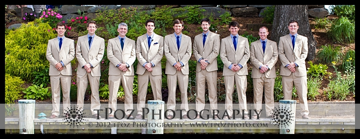 Groomsmen Port Annapolis Marina Wedding Portrait