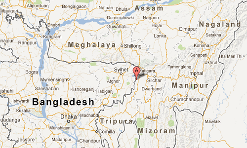 Shillong_India_google_map