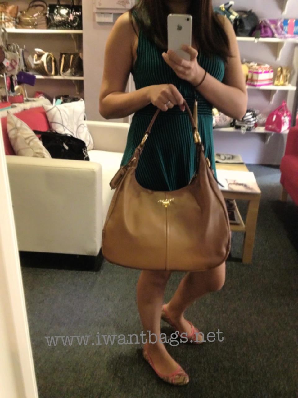 prada small zip wallet - Prada BR4373 Soft Calf Leather Hobo