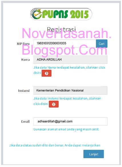 Cara Registrasi PUPNS 2015 di BKN Secara Online 1