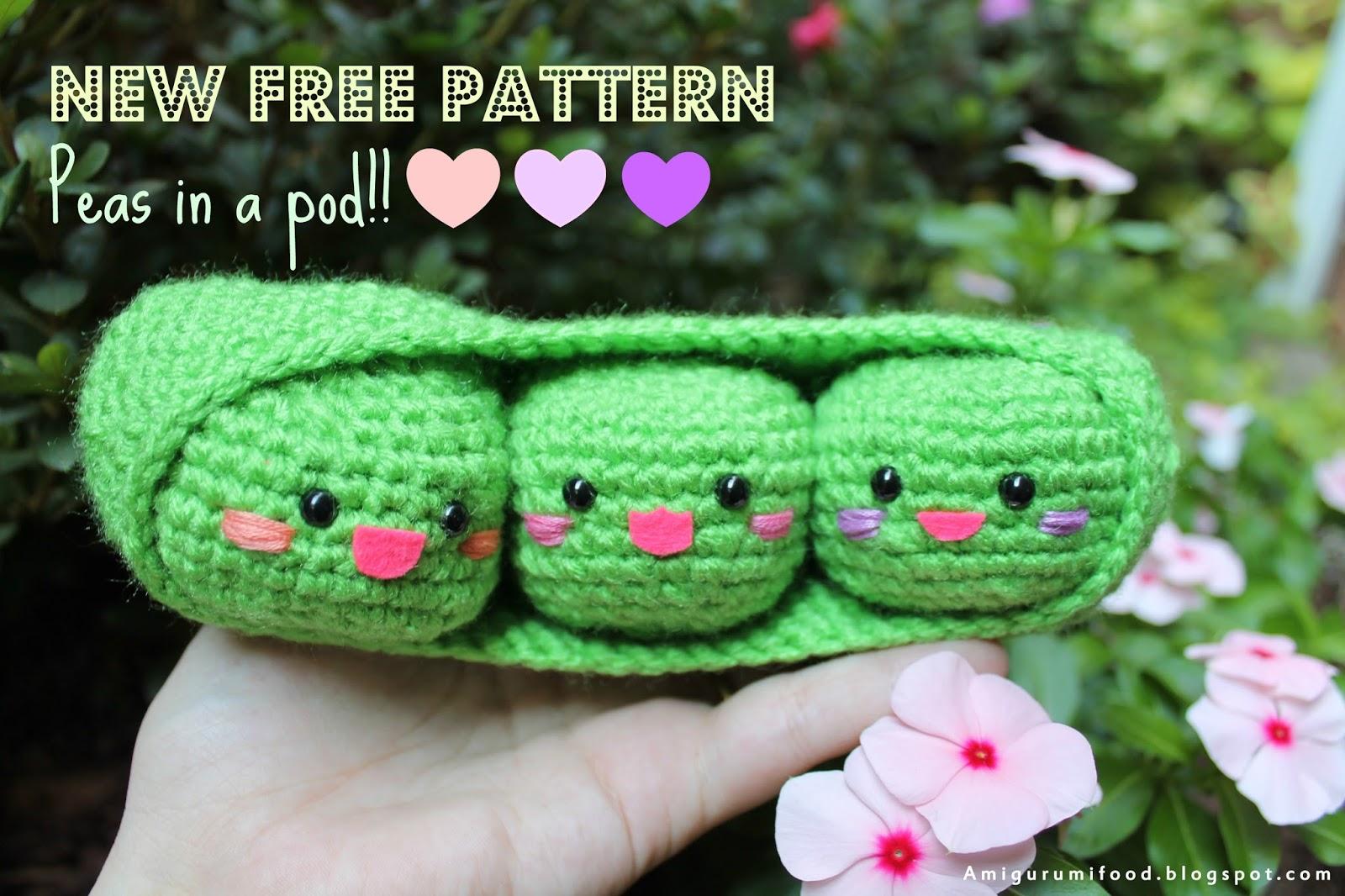 Amigurumi Harry Potter Free Pattern : Amigurumi Food: Peas in a Pod Amigurumi Food-Free pattern!!