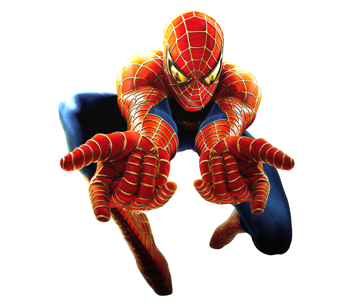 Spiderman shooting web clip art