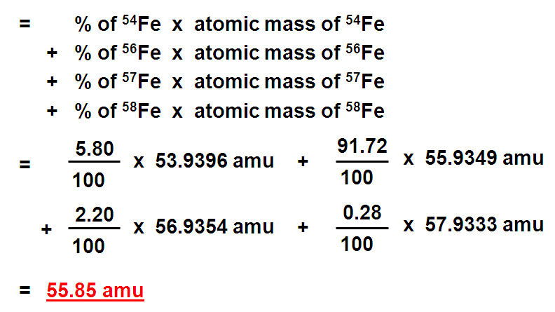 Chemistry sk016 c1 12 relative atomic mass ram 2nd step calculate relative atomic mass urtaz Image collections