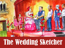 Unique wedding sketches.
