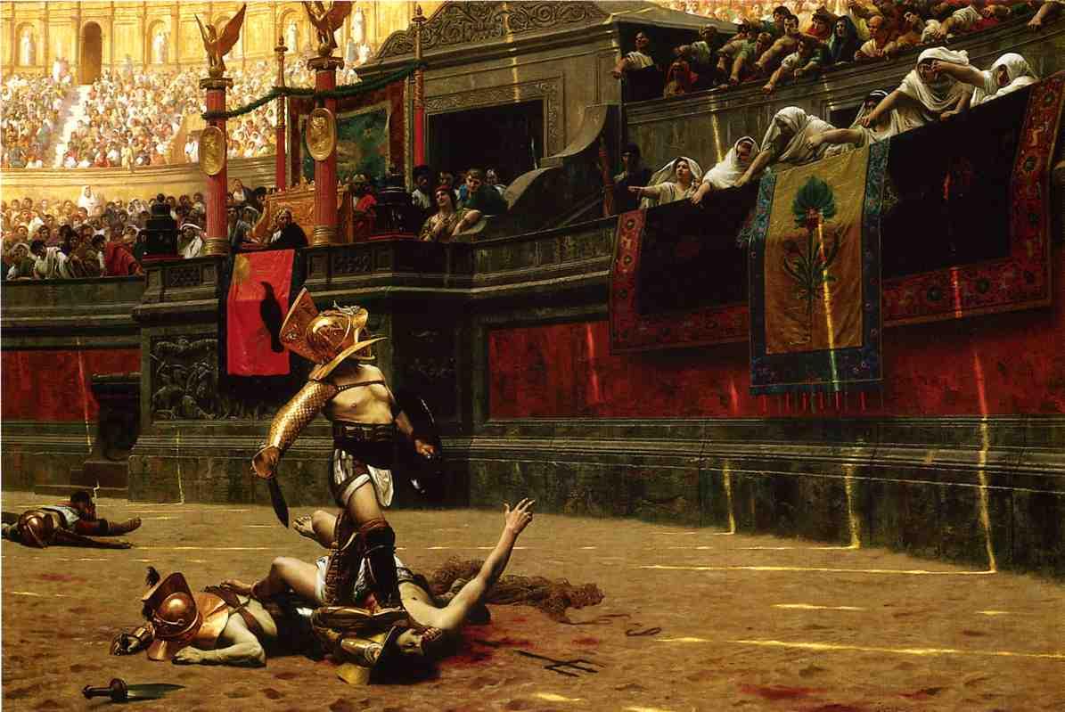 Recreación romática de lo que sucedía al final del combat