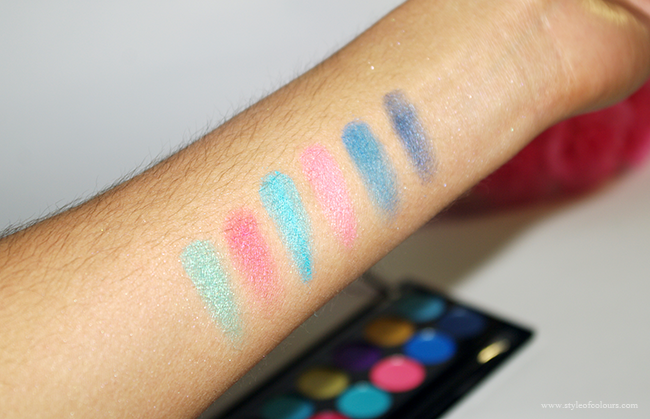 MUA Poptastic Swatches - Second 6 colours