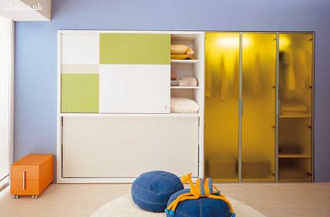 cama plegable con almacenaje