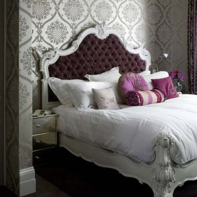 Liv luv design color palette gray and purple bedrooms for Purple and silver bedroom designs