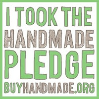 Etsy's Buy Handmade Pledge Badge
