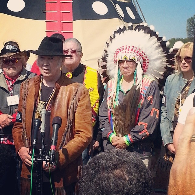 Neil Young Keystone XL Protest