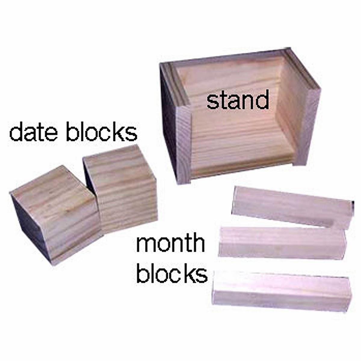 Calendar Wood Blocks : Sniffing glue dots how to make a wooden block perpetual