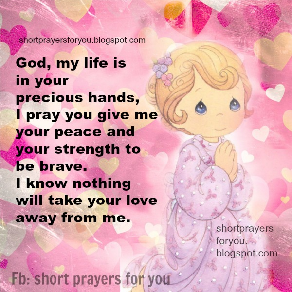 Short Prayer My Life In Your Hands Lord, Free Christian Quotes And Image