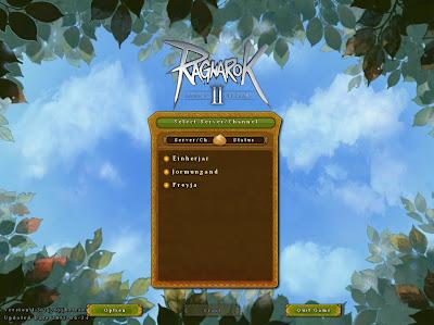 Tampilan Halaman Login Pilihan Server Ragnarok Online 2