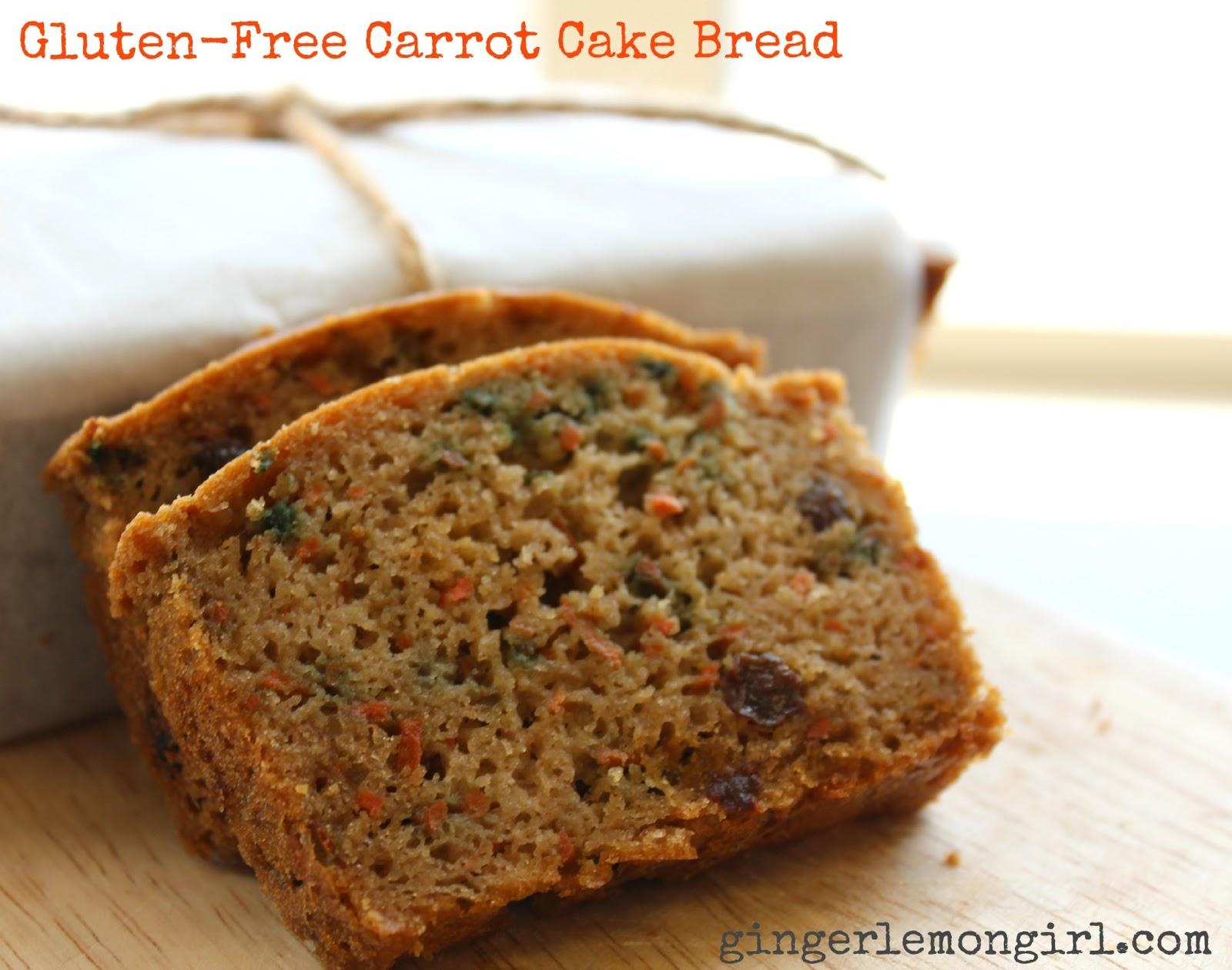 ... - Gingerlemongirl.com: Gluten-Free (Paleo-ish) Carrot Cake Bread