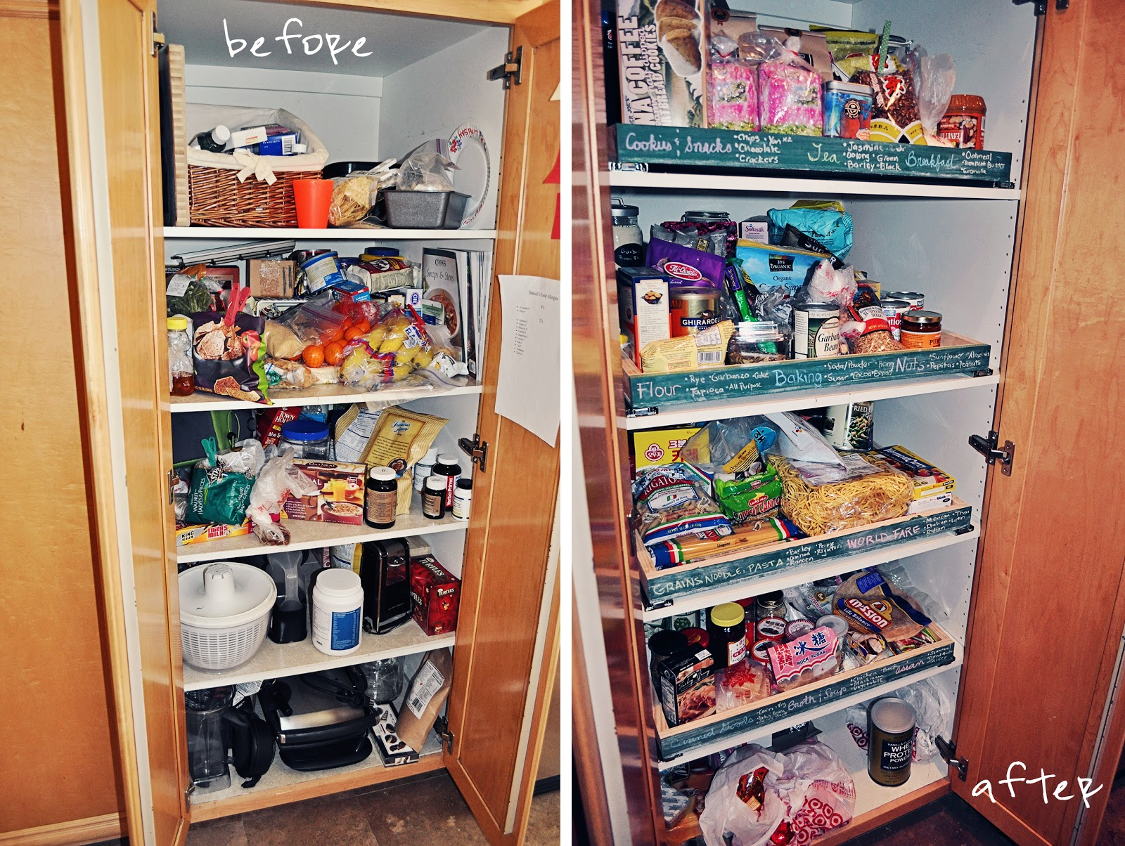 DIY | pull out pantry shelves | a boy, a girl, and 2 mini aussies