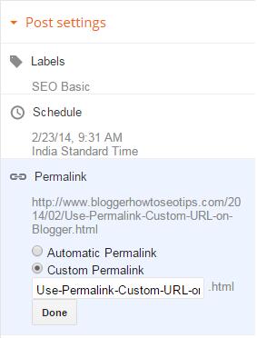 Custom URL, Permalink