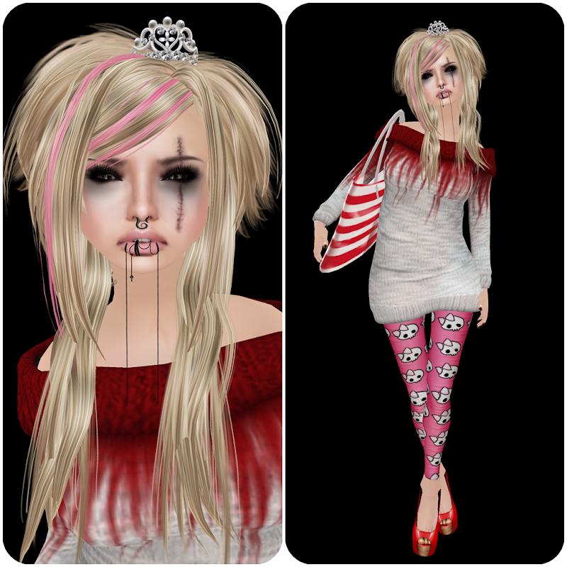 hair *BC322 EMO princess -Ttiara-Blonde title=