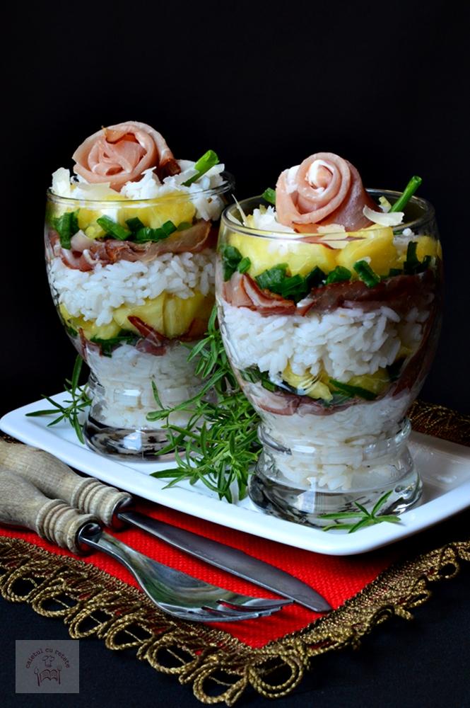 Salata exotica de orez